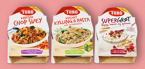 Orkla Food Norge / Toro has produced chilled ready meals with the Micvac packaging method since 2006