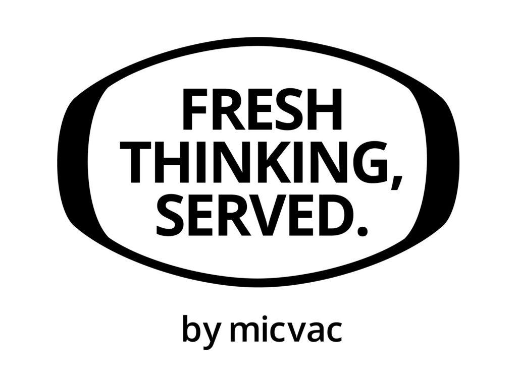Micvac motto - Fresh thinking, served.