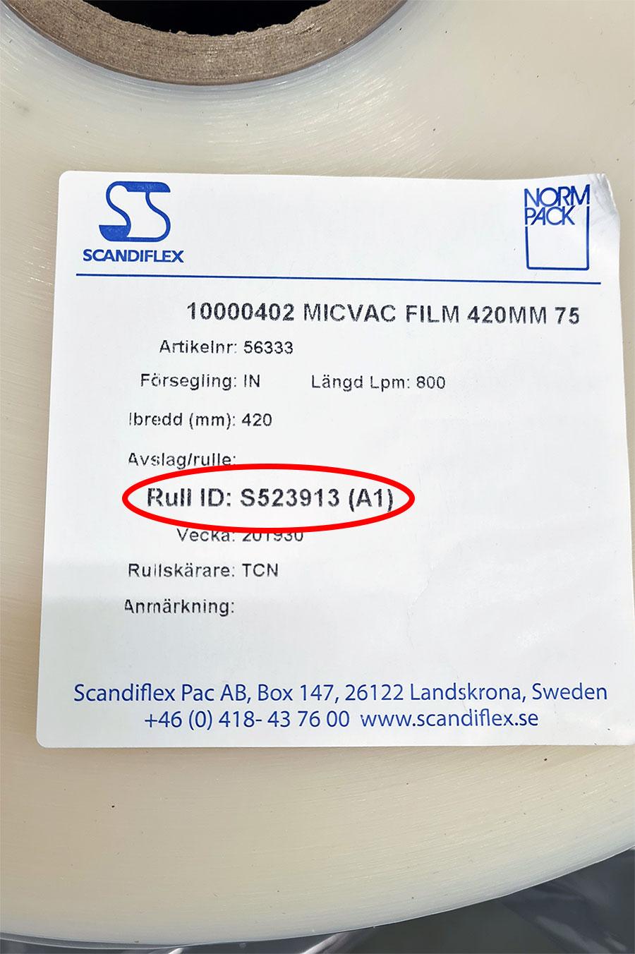 Film, idenfication code
